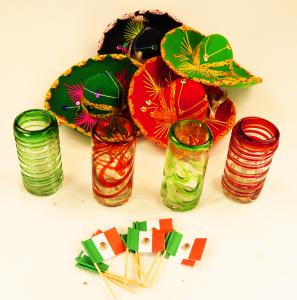Mexican Tequila glass Shot glasses cactus agave saguaro prickly pear