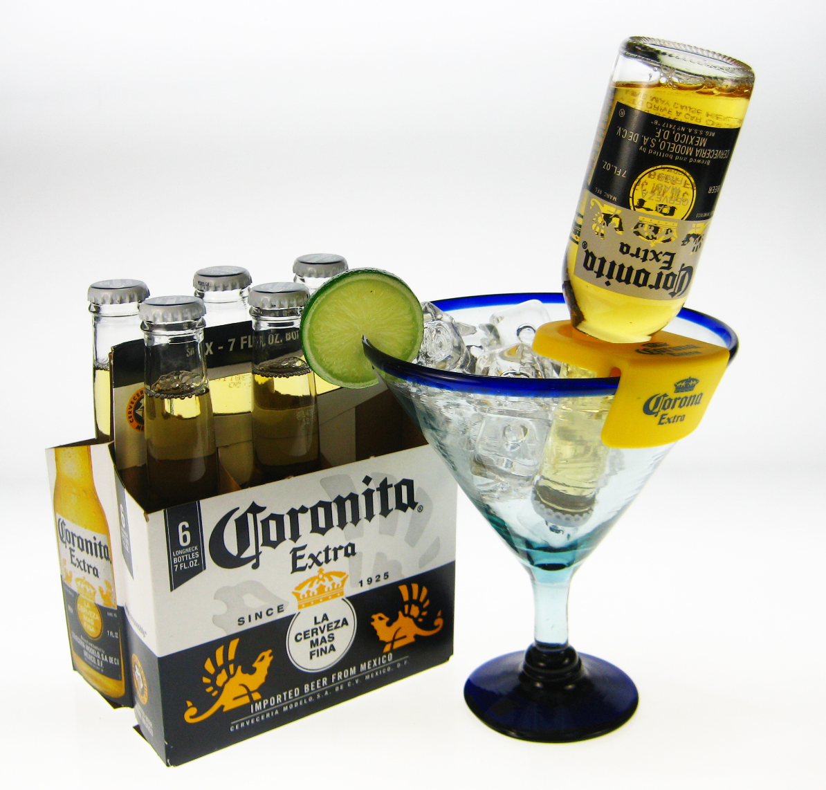 Coronarita margarita corona bottle holder for How to make corona glasses