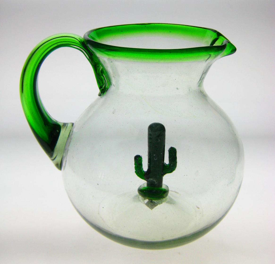 Cactus Margarita Glasses And Pitcher