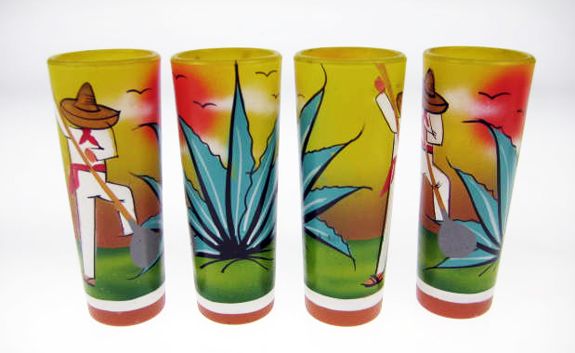 yellow agave digger shot glasses