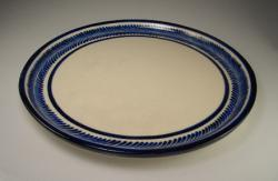 Server 11 Inch Round Blue on White
