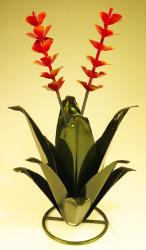 Agave Metal art hand painted in Mexico medium 21