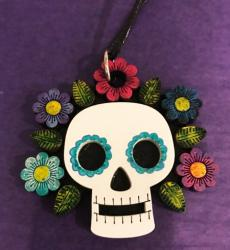 Day of the Dead Jewelry Catrina Necklace