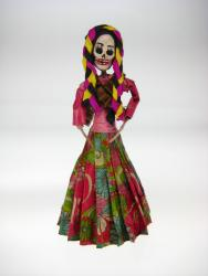 Day of the Dead Catrina soldaderas w braids 9 inch