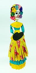 La Calavera Catrina Frida in Yellow 11 inches