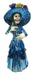 "Catrina in Navy blue dress with matching flowers 19"" tall"