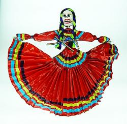 Day of the Dead Catrina Dancer in Red