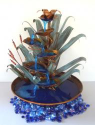 Cattail Copper Fountain Tabletop Size