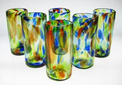 Drinking Glasses, Confetti Swirl, 22oz, Set of Six