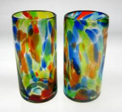 Drinking Glasses, Confetti Swirl, 22oz, Set of 2