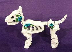 Day of the Dead Dog Skeleton