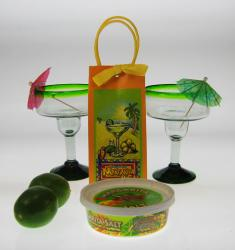 Margarita Party Gift Set, Green Rim from Mexico