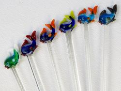 Fish Sticks glass stir sticks hand made in Mexico