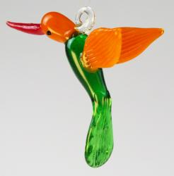 Hummingbird Lamp worked glass 3 inches