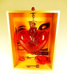 Broken Heart ArtBox with Mexican Glass heart