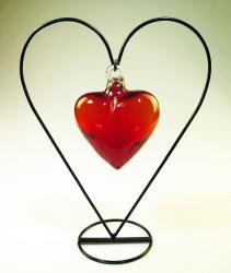 Red Heart in Heart display stand