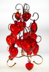 Red Heart Tree Display 15 hearts