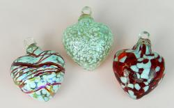 Three Hearts- 2 inch- red and white