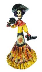 Catrina fan dancer 15.5 inches tall