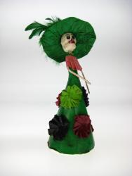 Day of the Dead Catrina L Calavera in Green Dress