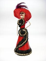 Day of the Dead Catrina La Calavera 10 inch Red