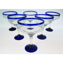 Margarita, Mexican Blue Glasses, Set of 6