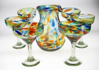 Confetti Margarita Glasses and Matching Pitcher