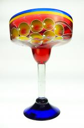 Mexican Margarita Glass XXL 56oz  GRAPE on red