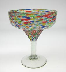 Mexican Margarita Glass, Pebble Confetti  15oz