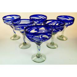 Bright Confetti Swirl Margarita Glasses, 15oz, Set of six.