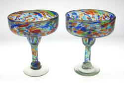 Margarita Glasses, Confetti Swirl, 11oz, Set of 2