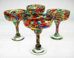 margarita glasses Mexico confetti