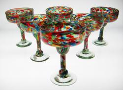 margarita glasses Mexico confetti swirl