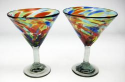 martini margarita glasses confetti swirl 2 made in Mexico