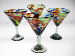 martini margarita glasses set of 4 confetti swirl marde in Mexico