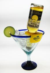 Mexican Margarita Glass 22oz  with CoronaRita holder