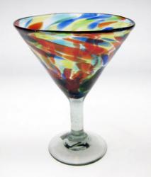 Margarita martini Confetti Swirl Mexican Glass