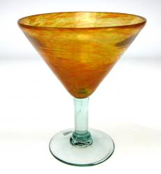 Mexican glass martini orange color