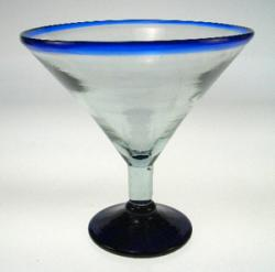 martini glass blue rim from Mexico