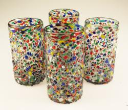 Mexican glass, bumpy confetti pebble glass 4