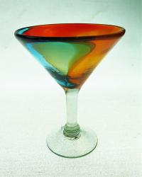 Martini Glass 10oz Tricolor