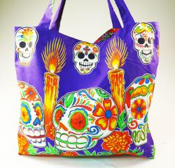 Skull fabric bag XL made in Mexico