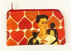 Frida coin purse with monkey