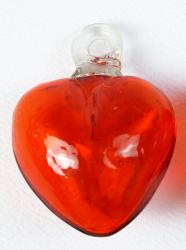 Orange Heart - Small 2 inches