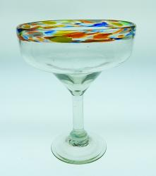 margarita glass confetti rim made in Mexico