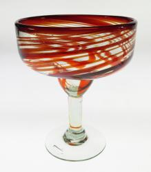 Margarita Glass, Red Swirl 18oz