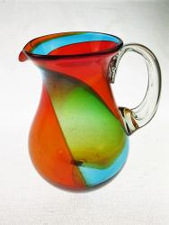 Mexican Glass Pitcher Tricolor Pera 80oz