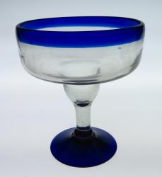 Monster Margarita Blue Rim Mexican bubble glass
