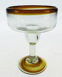 Margarita Glass, Amber Swirl Base, 12oz