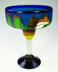 Mexican Margarita Glass XX Large 56 oz Blue Pancho